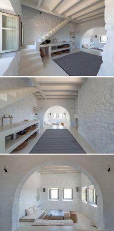 AMAZING CONTEMPORARY HOUSE UPDATE   A Respectful Contemporary Update For A Historic House In Greece   bocadolobo.com/ #contemporarydesign #contemporarydecor