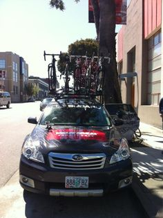 Wired Magazine getting ready to head out in the Yakima Racks car for the #wiredbiketest