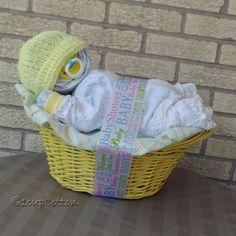 Deluxe Blue Napping Baby BasketTM by 1cupCotton on Etsy
