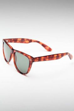 REPLAY VINTAGE SUNGLASSES WAYFARER 2 G-15 SUNGLASSES TORTOISE