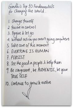 Be the change! Be authentic!