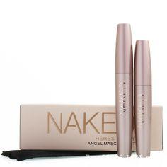 Marca heres b2uty fibra de las pestañas rimel 3d youniqued amor negro impermeable gel de trasplante y natural maquillaje cosméticos 2 unids/lote