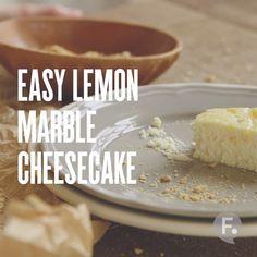 Easy Lemon Marble Cheesecake