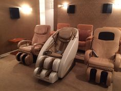 Main features: Fully automatic massage in all combinations, 340 massage combinations, Full back massage - from neck to hips, Needs no space behind the chair Shiatsu Massage Chair, Behind The Chair, Japanese Massage, Massage Techniques, Yamaguchi, Rocking Chair, Hammock, Remote, Wave