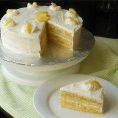 Lemon Cake with Lemon Filling and Lemon Butter Frosting - Allrecipes.com