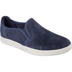 Men's Mark Nason Skechers Knoxville Slip On - Navy Casual ($80) ❤ liked on Polyvore featuring men's fashion, men's shoes, blue, casual, slip-on shoes, mens shoes, mens blue shoes, mens blue slip on shoes, navy blue mens shoes and mens nubuck shoes