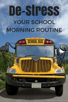 Easy Ways To De-Stress Your School Morning Routine #BackToSchool School Tips #ad