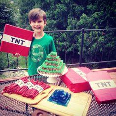Minecraft green Birthday shirt creeper party ideas cake favor theme tnt party favors ideas