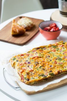 This frittata is the perfect big brunch recipe for feeding a crowd. Make this family-sized frittata in the oven and eat right away or use for meal prep!