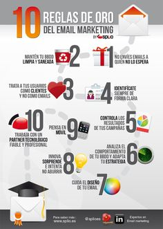 10 reglas de oro del email marketing #infografia