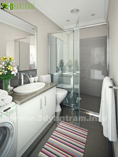 Bathroom Interior Design: Visualize Your Modern Bathroom Design With Yantram Architectural Design Studio, Architecture Design, 3d Interior Design, Interior Rendering, Bathroom Interior Design, 3d Rendering, Design Your Own Bathroom, Modern Bathroom Design, Modern Design