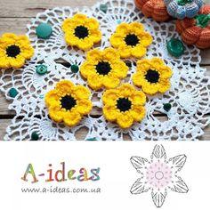 Watch The Video Splendid Crochet a Puff Flower Ideas. Wonderful Crochet a Puff Flower Ideas. Crochet Puff Flower, Crochet Sunflower, Crochet Flower Patterns, Flower Applique, Crochet Flowers, Crochet Diy, Crochet Garland, Love Crochet, Irish Crochet