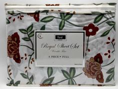 Full Sheet Set Cottage Floral Print Soft easy care 4pc Wrinkle Free New #SS #Modern