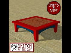Sketch of the Day: Lodge Coffee Table - YouTube