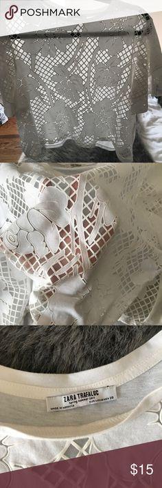 Zara ruffle shirt size m Size m zara ruffle shirt Zara Tops
