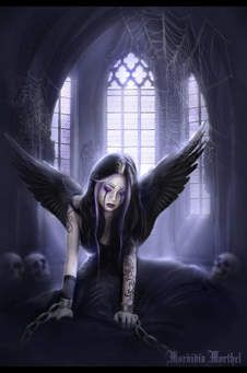 A gallery of Gothic-angel-wallpaper by top gothic artists and graphics images. Dark Fantasy Art, Dark Gothic Art, Fantasy Kunst, Final Fantasy, Crying Angel, Sad Angel, Dark Angels, Fallen Angels, Angels And Demons