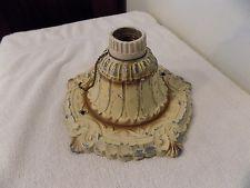Antique Vintage Victorian Style Cast Aluminum Flush Mount Ceiling Light Fixture