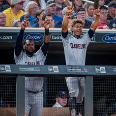 Get yourself some hype men like these two. The post Cleveland Indians: Get yourself some hype men like these two. appeared first on Raw Chili. Indians Baseball, Lindor, Cleveland Indians, Mlb, Chili, You Got This, Chile, Chilis, Its Ok