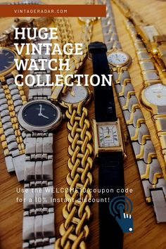 Wedding Accessories, Wedding Jewelry, Antiques Online, Timeless Beauty, Vintage Watches, Coupon Codes, Perfect Wedding, Vintage Antiques, Watches For Men
