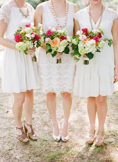 #bouquets #bridesmaids Florence, Alabama Wedding from Austin Gros |   Read more - http://www.stylemepretty.com/2013/08/21/florence-alabama-wedding-from-austin-gros/