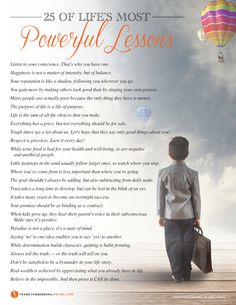 25 of Life's Most Powerful Lessons I Values to Live By I www.FrankSonnenbergOnline.com