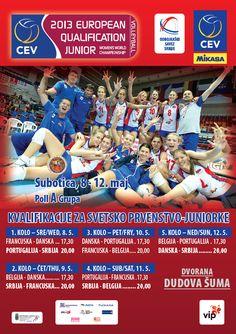 Poster za Kvalifikacije za SP 2013. za juniorke. // 2013 European Qualification to the World Championship - junior women.