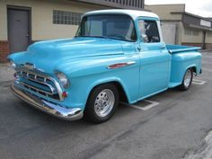 1957 Chevy Step Side Truck, buddy Darren's truck...almost there