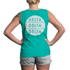 Rocking #TriDelta on the University Tees EXCLUSIVE Comfort Colors Gulf Shores Collection! #DDD #Sorority   Made by University Tees   www.universitytees.com