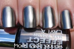 Layla metal chrome polish via more nail polish. Finally, a chrome polish that I can get behind. seriously, click through for the rest of the pictures, they're so awesome!