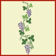 Grape 2 Stencil -- grapevine
