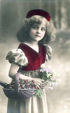 Vintage Postcard ~ Sweet Girl | Postcards from my collection… | Flickr