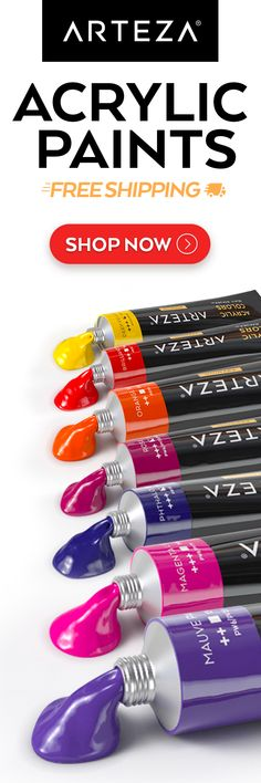 🔥 🌈 Color your world with the vibrant ARTEZA Acrylic Premium Artist Paint Set 🌈 Acrylic Paint Set, Landscape Artwork, Learn To Paint, Artist Painting, Art Techniques, Art Tutorials, Painted Rocks, Watercolor Art, Vibrant Colors