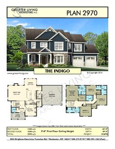 Plan 2970: THE - House Plans - 2 Story House Plan - Greater Living Architecture - Residential Architecture