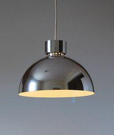 Mid Century Modern Lightolier Pendant Ceiling Lamp Fixture Eames Panton Era   eBay