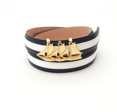 Navy Stripe Custom Nautical Belt