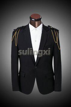Blazers Adaptable Men Gold Blue Red Sequin Jacket Blazer Masculino Slim Fit Suit Jacket Korean Casual Blazers Nightclub Singer Punk Stage Costume