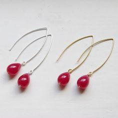 Jade Long Drop Earrings