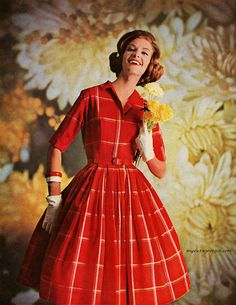 Rayon dress by McMullen 1962