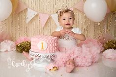 Smashing Princess | Quantico Cake Smash Photographer - Northern VA Newborn-Baby-Child-Family Photographer | Custom Natural and Studio Light Photography
