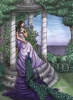 Hera - goddess of women and marriage. Her themes are love, forgiveness & humor.