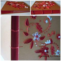 Red quilling handmade photo album