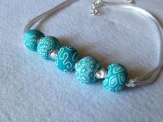 Collana con perle in fimo fatte da Mauty Handmade €12 mautyhandmade@hotmail.it