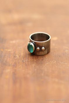 Green Cyrstal Ball Everyday Ring by SamanthaJuneCreative on Etsy