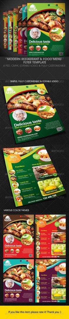 Restaurant #Flyer - #Restaurant #Flyers Download here   - menu flyer template