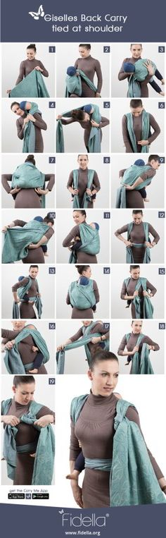 Look at this easy and wonderful instruction. https://fidella.org/en/instruction-giselles-back-carry-tied-at-shoulder