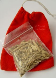 Devils Shoestring With RED Flannel Pouch Wicca Pagan Witch Spell Goth Protection | eBay