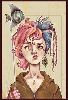 The Sandman: Delirium, by Phoenix Zoellick Neil Gaiman, Delirium Sandman, Death Sandman, Comic Art, Comic Books, Nerd, Animation, Drawings, Graphic Novels