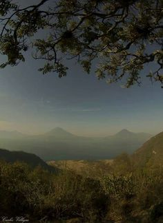 Beautiful view of Atitlan Tikal, Celestial, Mountains, Sunset, Nature, Travel, Outdoor, Beautiful, Learn To Paint
