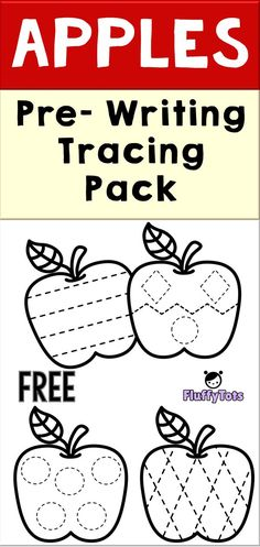 11 FREE Apple Themed Printable : Exciting Activities for Toddlers! Preschool Apple Activities, Preschool Apple Theme, Preschool Writing, Fall Preschool, Preschool Lessons, Preschool Activities, Apple Theme Classroom, Classroom Setup, Toddler Fall Activities