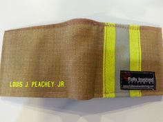 FIREFIGHTER Turnout Bunker Gear Wallet Made From RECYCLED Fire Gear